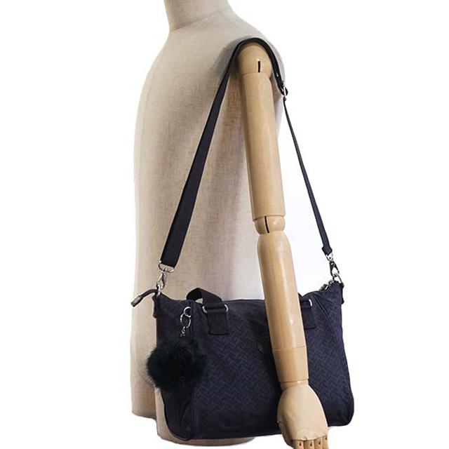 Of shoulder handbag NIGHT BLUE EMB navy origin at キプリング Kipling bag K16616  L12 AMIEL net L 2way bias b971ec61c922b