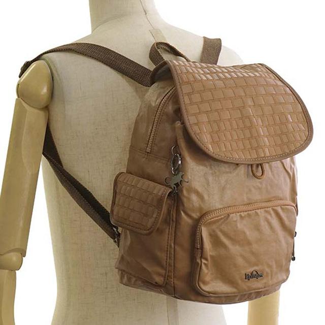 99ef9ccaa507 キプリング Kipling rucksack K16658 51H CITY PACK S city pack S backpack TAN WEAVE  beige brown system