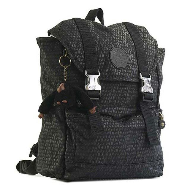 8b18bbf7cb6f キプリング Kipling rucksack K19229 19M EXPERIENCE S experience S backpack BLACK  SCALE EMB black + scale pattern