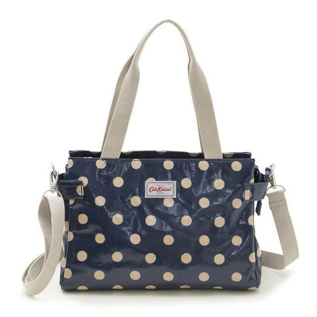 Cath Kidston Bag Shoulder 787055 Brooke Navy On Spot Dot Pattern