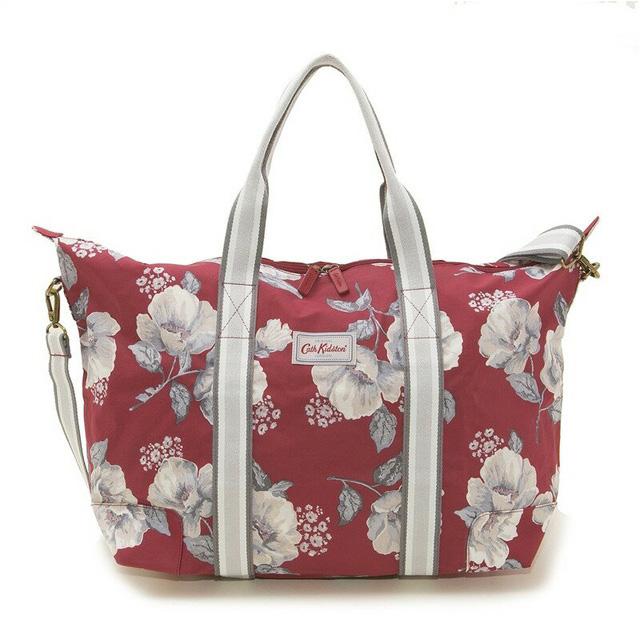 Cath Kidston Shoulder Bag Tote 787253 Foldaway Overnight Folder Way Over Knight Poppy Red Mid Wild Poppies Fl Design System