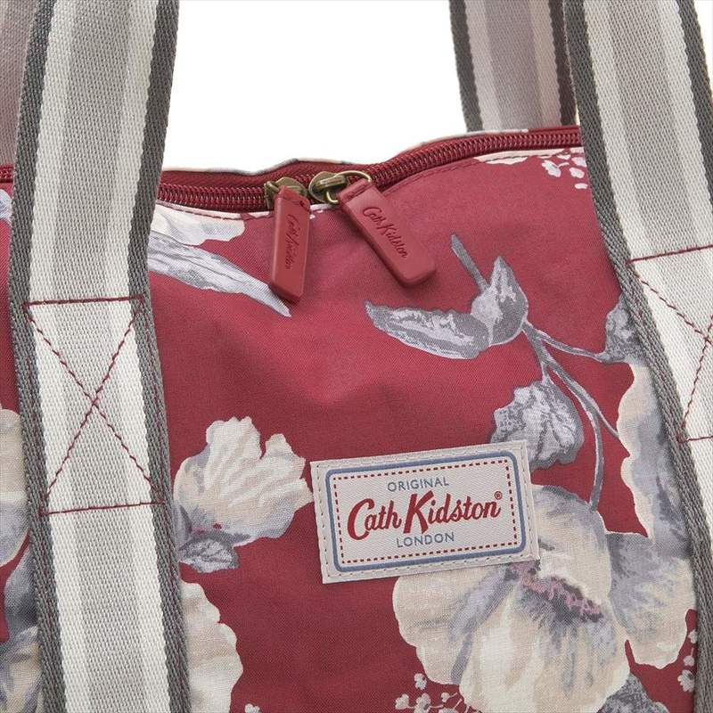 d82363546f81 Cath Kidston Cath Kidston shoulder bag tote bag 787253 Foldaway Overnight  Bag folder way over knight bag Poppy Red Mid Wild Poppies floral design red  system