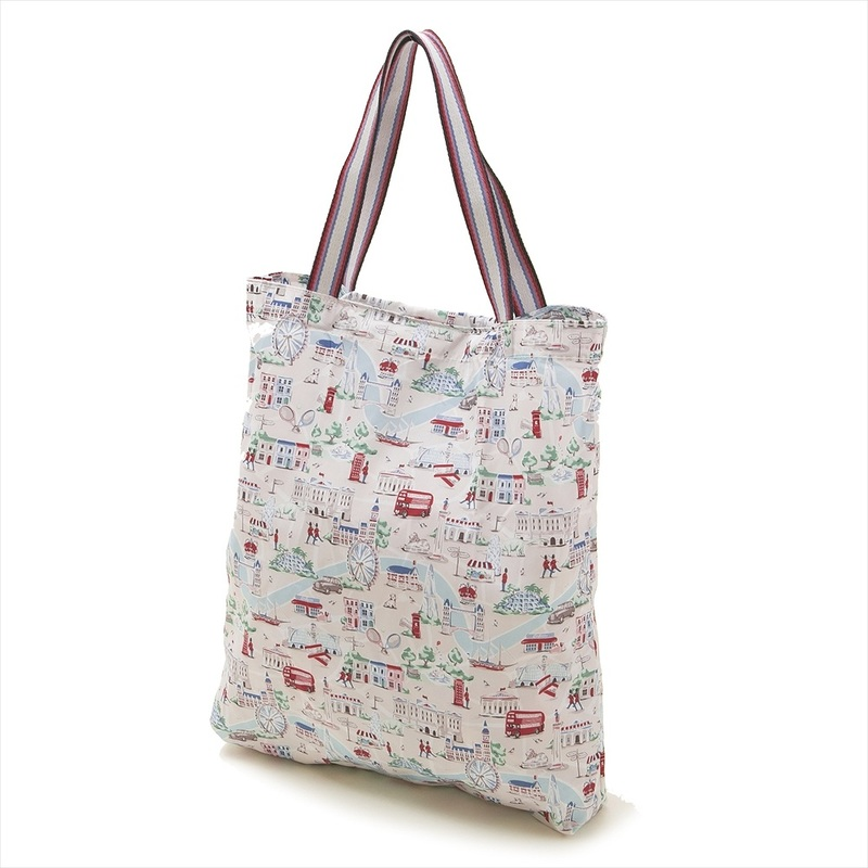 Cath Kidston Eco Bag Tote 788465 Foldaway Folder Way Thoth Stone Small London Map White Beige System Maruti