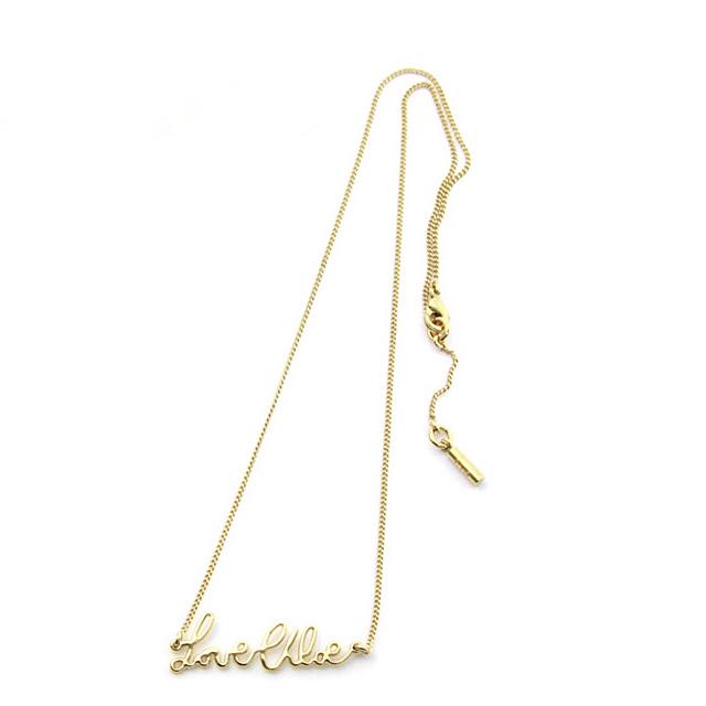91ead802 CHLOE (Chloe) accessories gold pendant necklace Love Chloe