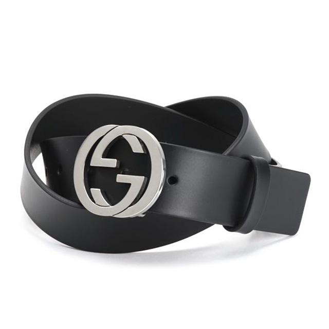 c12aa1060 Salada Bowl: Gucci GUCCI 368186 BGH0N1000 leather belt interlocking ...