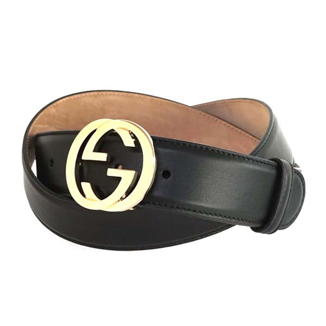 7368f45cf Salada Bowl: Gucci GUCCI 370543 AP00G1000 leather belt interlocking ...