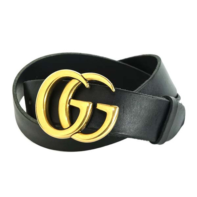518dd5c0f Salada Bowl: Gucci GUCCI 406831 CVE0T1000 leather belt double G ...