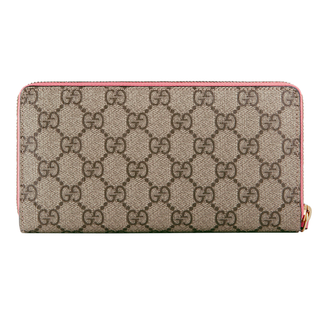 Gucci GUCCI 431392 pale K05RG8790 zip around style wallet beige + pink wallet ladies new pink heart zip around GG canvas GG pattern leather brand fashion thin popular regular new featured 20s 30s 40s presents Christmas day