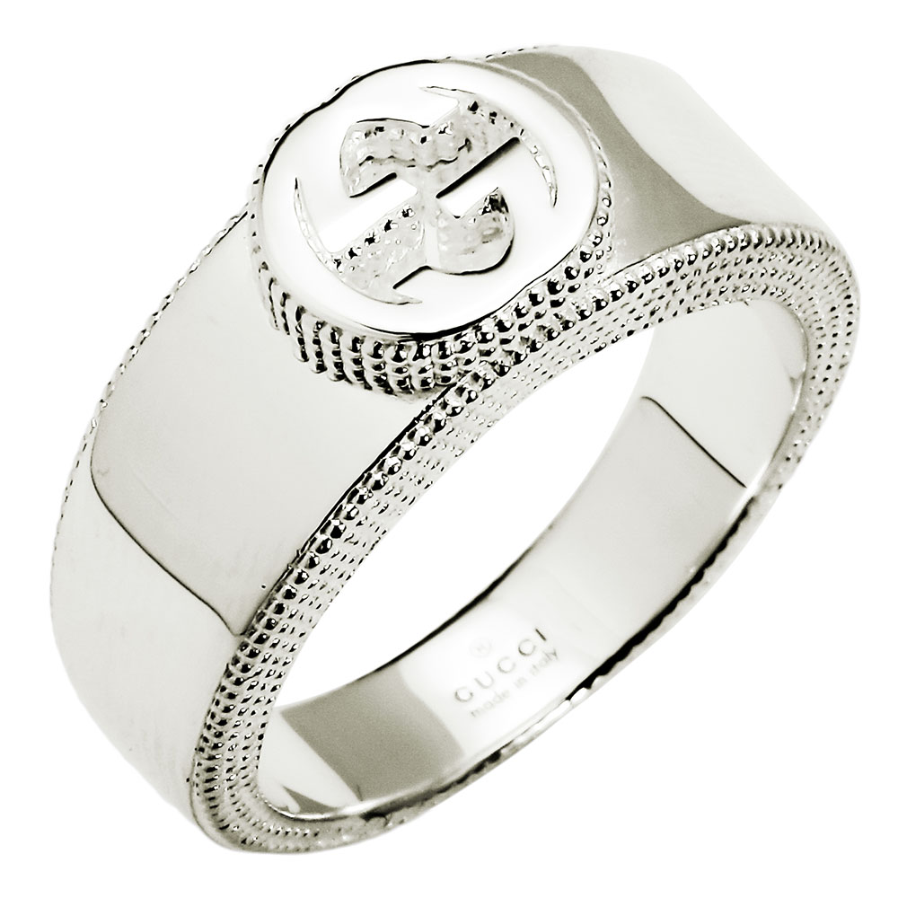 af0ed09628a7b3 White day is new on Gucci GUCCI interlocking grip G ring silver 479228 J8400  8106 sterling ...