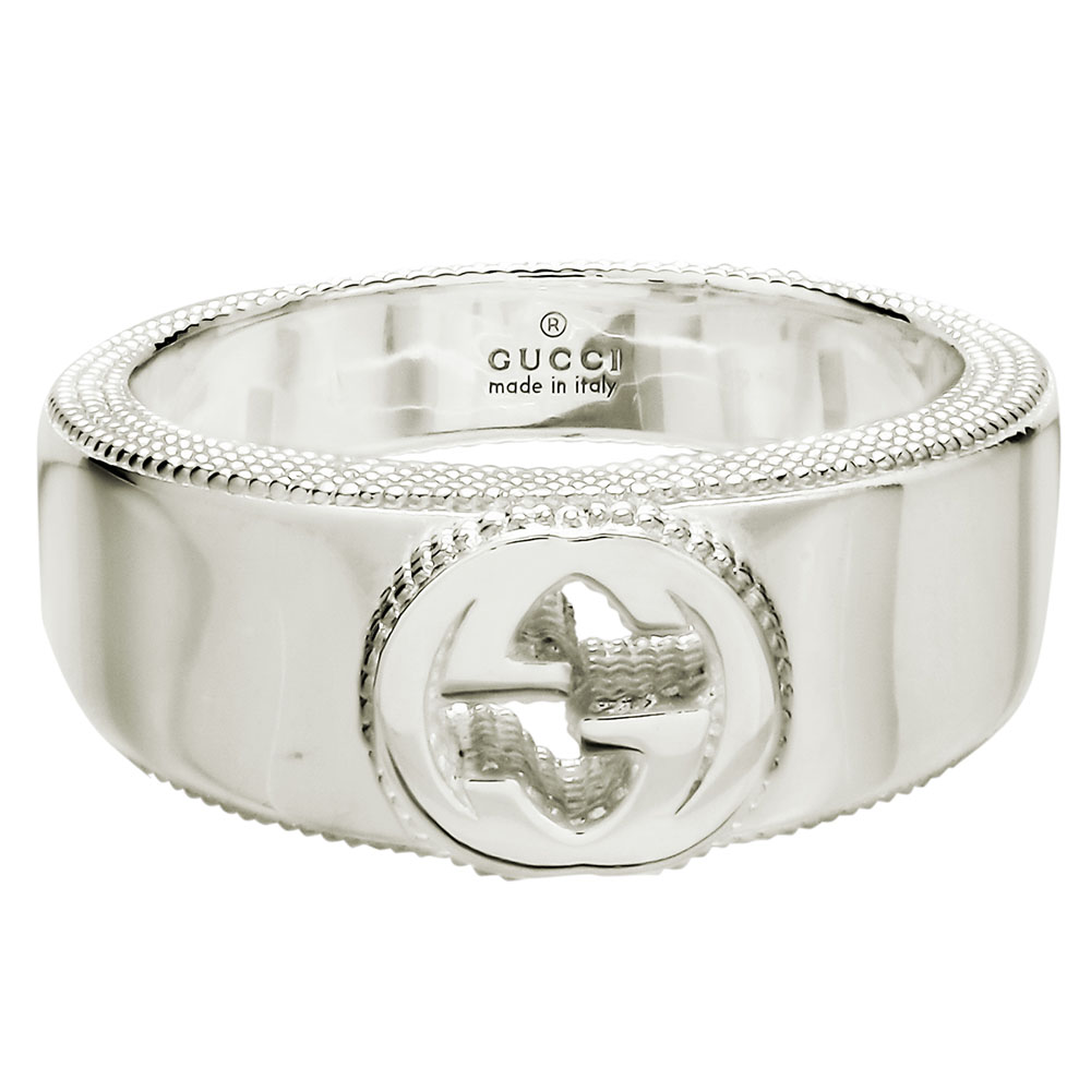 1461757ef51957 ... White day is new on Gucci GUCCI interlocking grip G ring silver 479228 J8400  8106 sterling ...