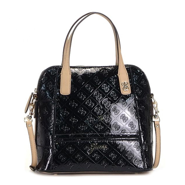 Diagonally Over The Shoulder Bag Handbags 2 Way Women S Brand Black New Por Guess Fs2gm