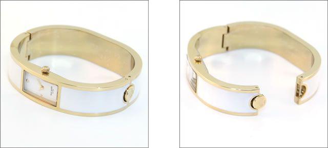 Katespade Clock Kate Spade Watch Newyork New York Gold Bangle Bracelet Carousel Lady S