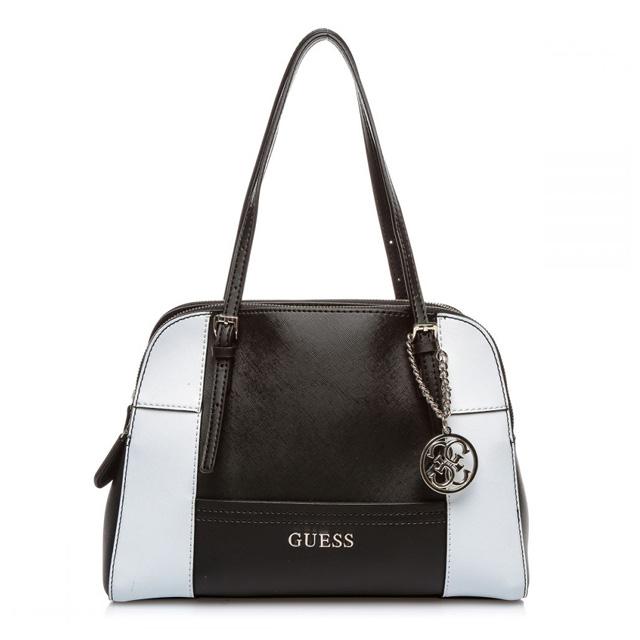 Guess GUESS shoulder bag handbag tote bag new brand new shoulder charm type  press leather Leather Womens brand black black bag genuine commuter school  bag ... 5cf0b782afcc4