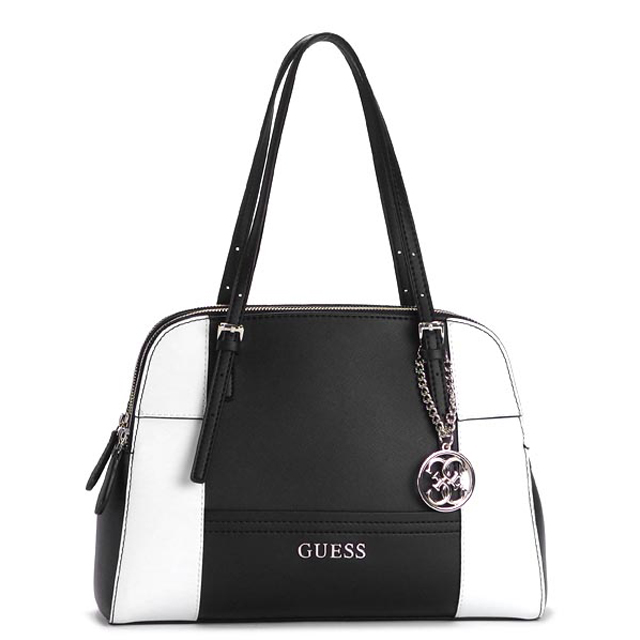 Guess GUESS shoulder bag handbag tote bag new brand new shoulder charm type  press leather Leather Womens brand black black bag genuine commuter school  bag ... c9f4039ca81e4