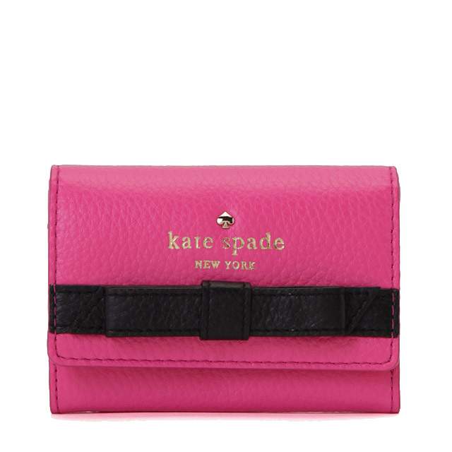 Kate spade COBBLE HILL BOW DARLA Keyring multicast pennies into the purse, Kate spade wallet 2 fold card case hot pink series 024213066 090