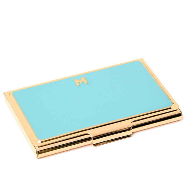 kate spade kate spade new york golden chances to be monogrammed for business card holders of the card and put the m one in a million initial business card - Kate Spade Business Card Holder