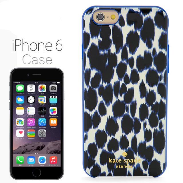 check out 8b539 207da Kate-spade kate spade NEW YORK resin iPhone 6 Leopard print Leopard pattern  Leopard pattern Leopard pattern RESIN IPHONE 6 LEOPARD PRINT Lapis blue ...