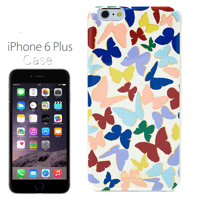 凯特·黑桃kate spade NEW YORK树脂iPhone 6/6s加蝴蝶RESIN IPHONE 6/6s PLUS BUTTERFLY多MULTI iPhone 6/6s情况iPhone情况iPhone 6/6s情况iphone箱盖名牌女性新作品