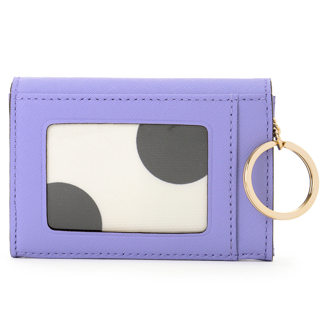 Kate Spade New York Gold Coast Coin Purse wallet keychain purple african violet
