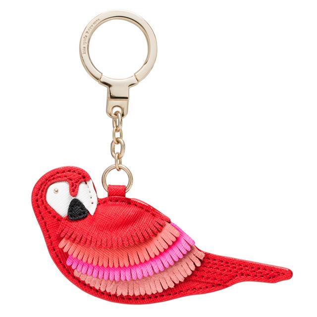 Kate-spade kate spade NEW YORK keyfob Keyring Keychain bag charm leather  Parrot brand women new KATE SPADE KEY FOBS LEATHER PARROT Parrot red pink  leather cfb0f4311