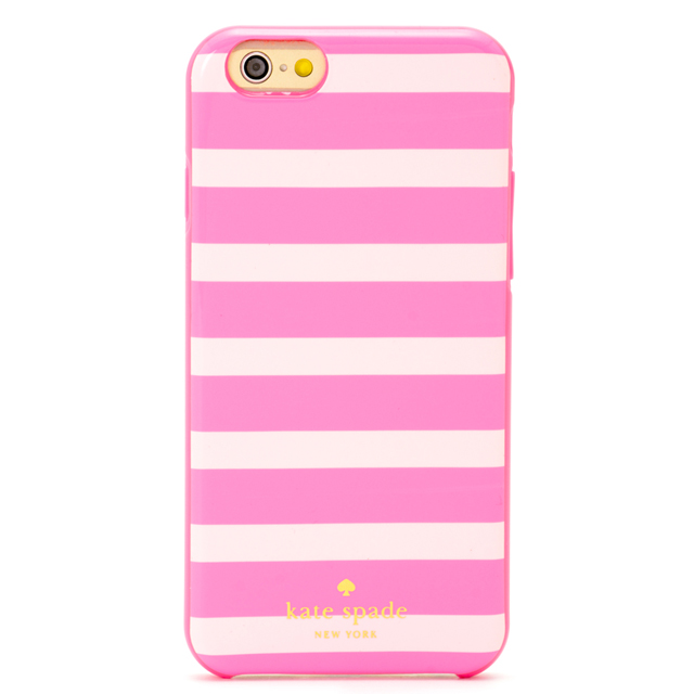 newest e4906 dd2ce Kate spade kate spade NEW YORK IPHONE 6 6 s case RESIN IPHONE 6 6 s CASE  iPhone 6 iPhone 6 s case Fairmont square striped Silicone Pink stripe  iPhone ...