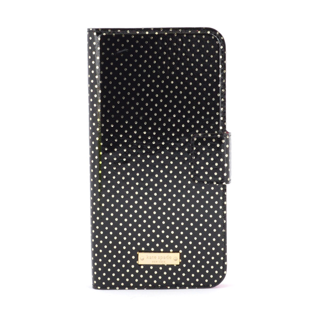 newest 5f252 19154 Kate spade kate spade NEW YORK iPhone 6 Plus 6 s Plus Folio TINY GOLD DOT  Handbook-iPhone case Black + metallic silver iPhone 6 case iPhone case ...