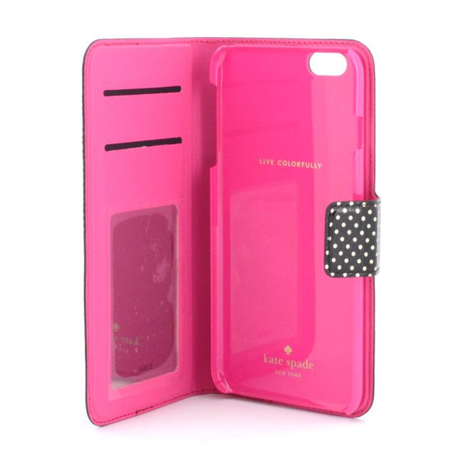 newest 9acb2 6521e Kate spade kate spade NEW YORK iPhone 6 Plus 6 s Plus Folio TINY GOLD DOT  Handbook-iPhone case Black + metallic silver iPhone 6 case iPhone case ...