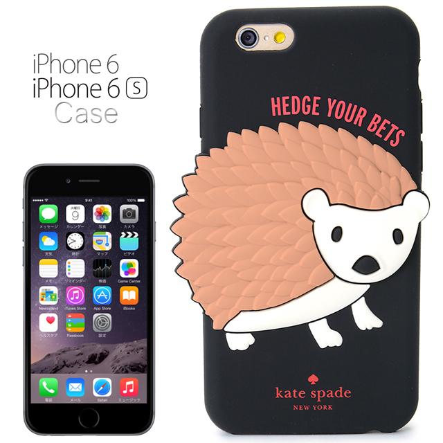케이트・스페이드 kate spade NEW YORK 실리콘 아이폰 6/6 s케이스 실리콘 초저공 대지 실리콘의 고슴도치 SILICONE IPHONE 6/6 s CASE SILICONE HEDGEHOG 블랙 BLACK iPhone6 케이스 아이폰 케이스 아이폰 6케이스 브랜드 여성 신작