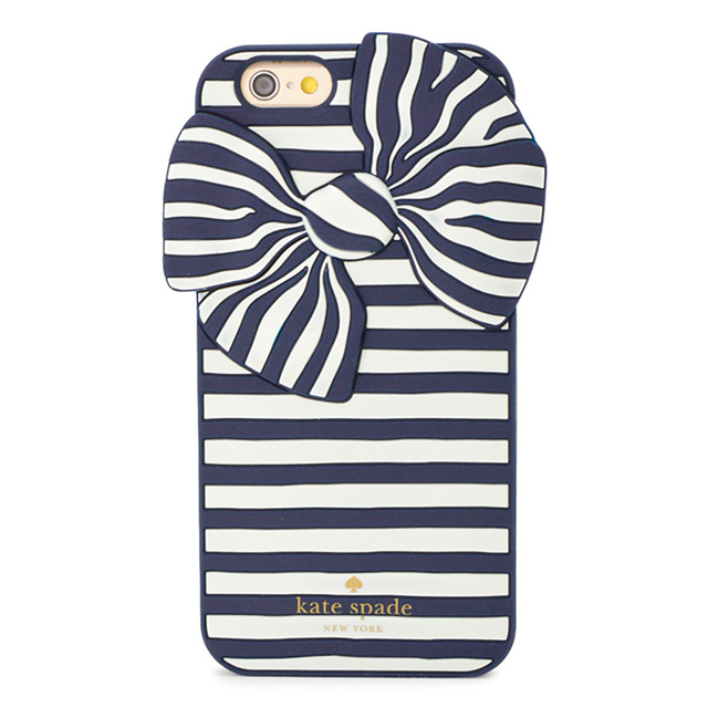 san francisco 43171 22756 Kate spade kate spade NEW YORK IPHONE 6 / 6s case SILICONE IPHONE 6 CASE  BOW STRIPE silicone iPhone 6 iPhone 6 s case bow striped richneiby iPhone 6  ...