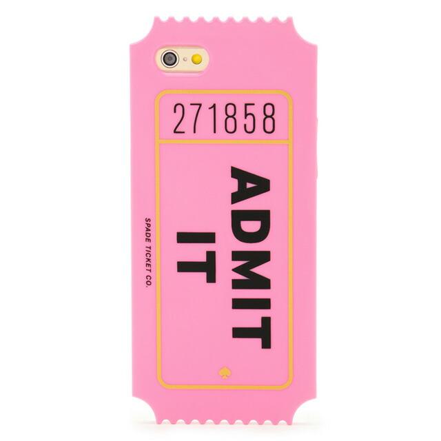 ケイト・スペード kate spade NEW YORK アイフォン6 アイフォン6sケース IPHONE 6 6s ケース シリコン アドミット イット IPHONE CASES ADMIT IT - 6 認めにくいことだけど… iphoneケースです! ピンク ブランド 女性 新作