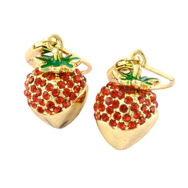 Kate Spade New York Wbrua785 616 Outside The Box Strawberry Drop Earrings Chocolate Covered Motif Women S Brand Regular