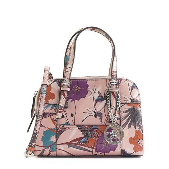 ゲス Guess Huntley 2way Shoulder Bag Handbag Pink Fl Light System Flower Pattern Multi Sy493705