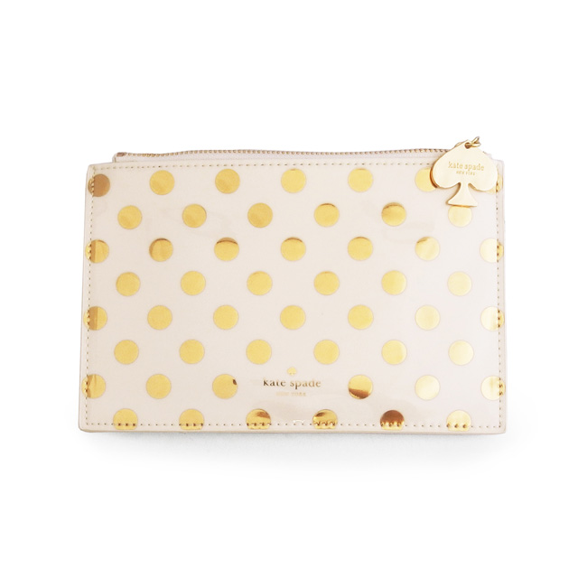 more photos 6d3d2 82bff Kate spade kate spade new york stationery pouch pencil pouch writing tool  set gold dots gold dot ksp-143734