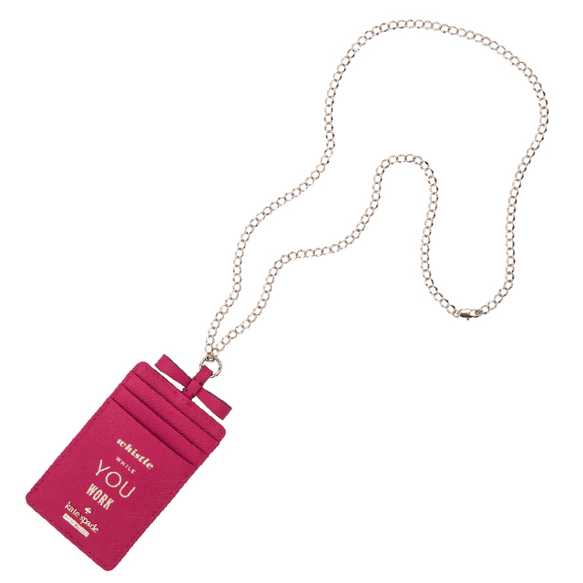 A Christmas Gift New Article For Women Is Unused On Kate Spade York Cardholder Neck Strap Cameron Street Lanyard Business Card Holder Id