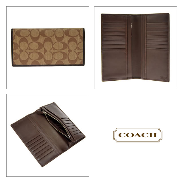a6bee21e01f7 COACH coach purse heritage stripe breast pocket wallet mens two bi-fold  wallet with coin into khaki   mahogany 74237 sale SALE new brand fs2gm
