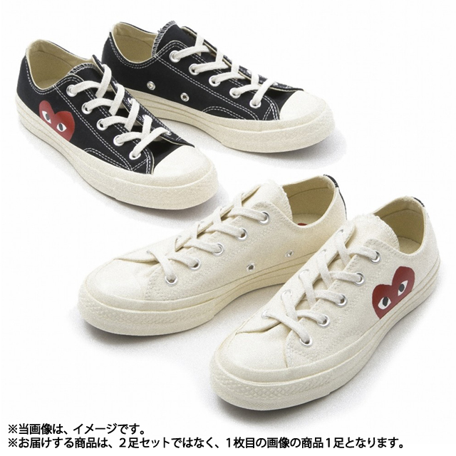 249423b76d12 コムデギャルソン COMME des GARCONS AZ-K111 Converse collaboration sneakers PLAY X  Converse Chuck Taylor All Star milk white MILK WHITE Lady s men unisex ...