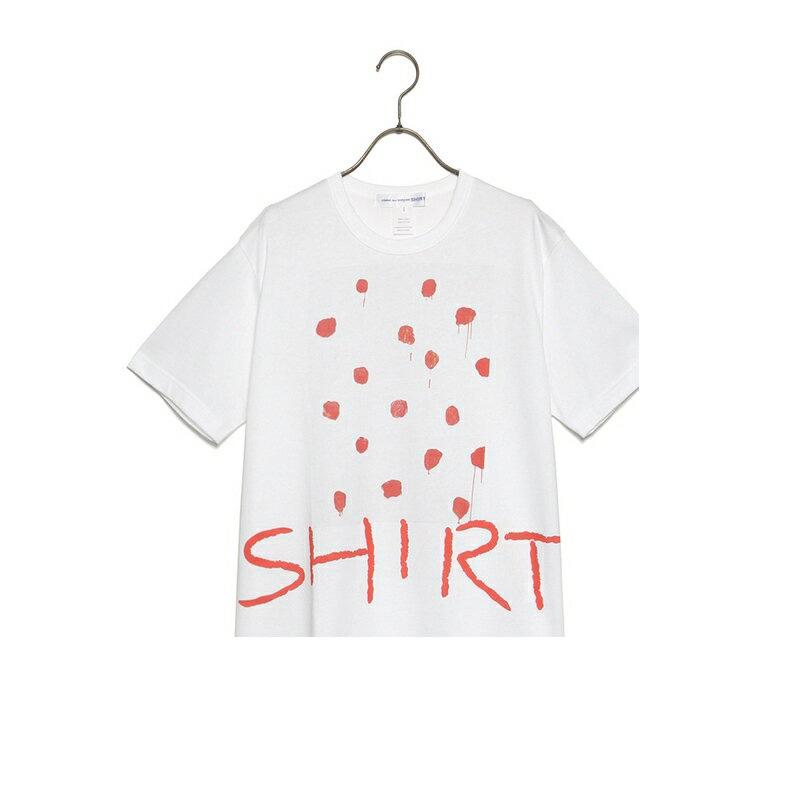 コムデギャルソン COMME des GARCONS SHIRT 半袖 Tシャツ S26114 SHIRT MULTICOLOR MARY HEILMANN TEE メアリーハイルマンコラボレーション メンズ ピンク トップス ショートスリーブ ロゴ 新品