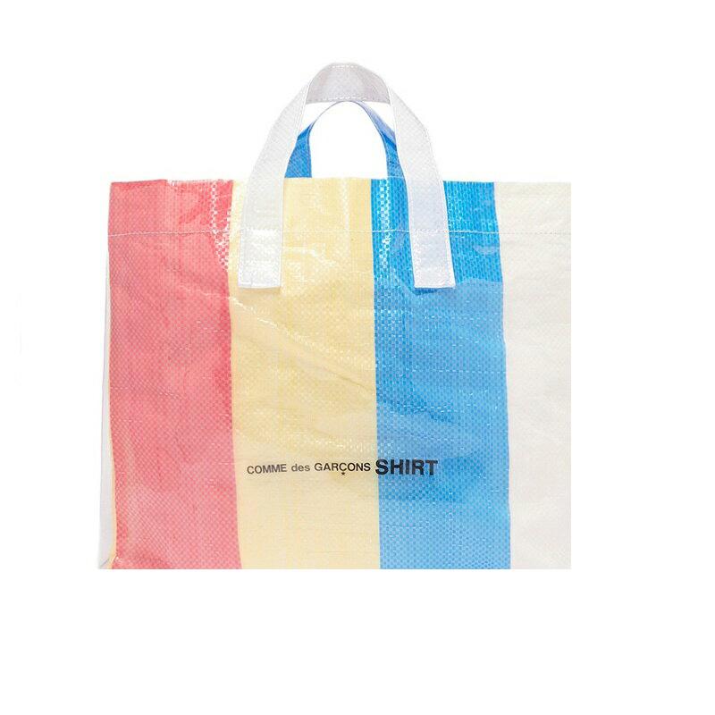 ea5952291f A コムデギャルソン COMME des GARCONS handbag S26610 1 SHIRT PVC BAG PRINT-A tote bag  vinyl stripe multicolored Lady s men present gift is new