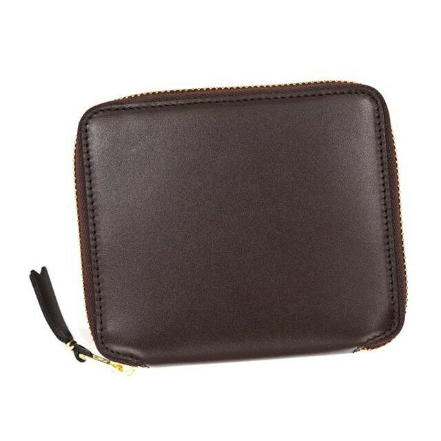 コムデギャルソン COMME des GARCONS 二つ折り財布 ギャルソン ラウンド ブラウン 茶 CLASSIC