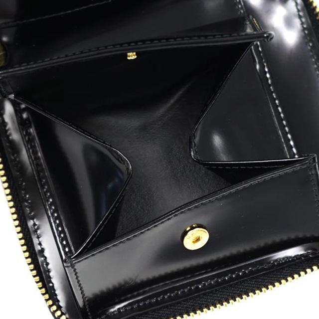 a817e2c276f3 財布 二つ折り財布 ウォレット レザー ドット柄 COMME des GARCONS SA2100NE Dots Embossed Wallet  Black コムデギャルソン ブラック ジップ ...