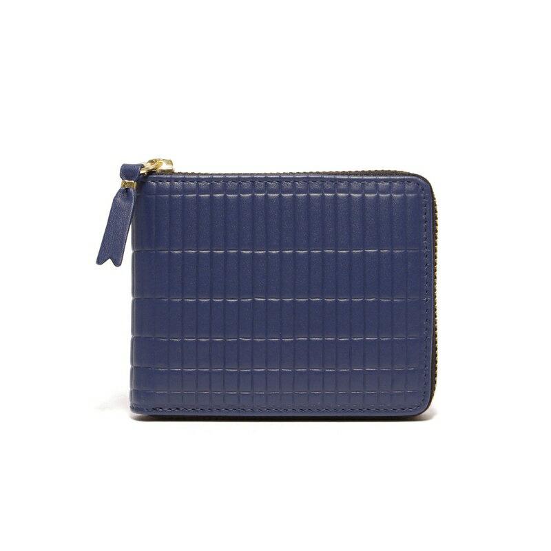 コムデギャルソン COMME des GARCONS 財布 SA7100BK BRICK WALLET 二つ折り コインケース ファスナー BLUE ブルー レディース メンズ プレゼント ギフト 新品