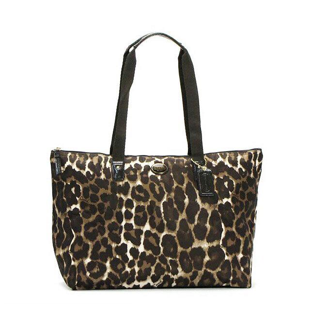 f32be909b76b ... usa coach coach bag outlet tote shoulder bag womens leopard handbag  pouch comes with folding ok