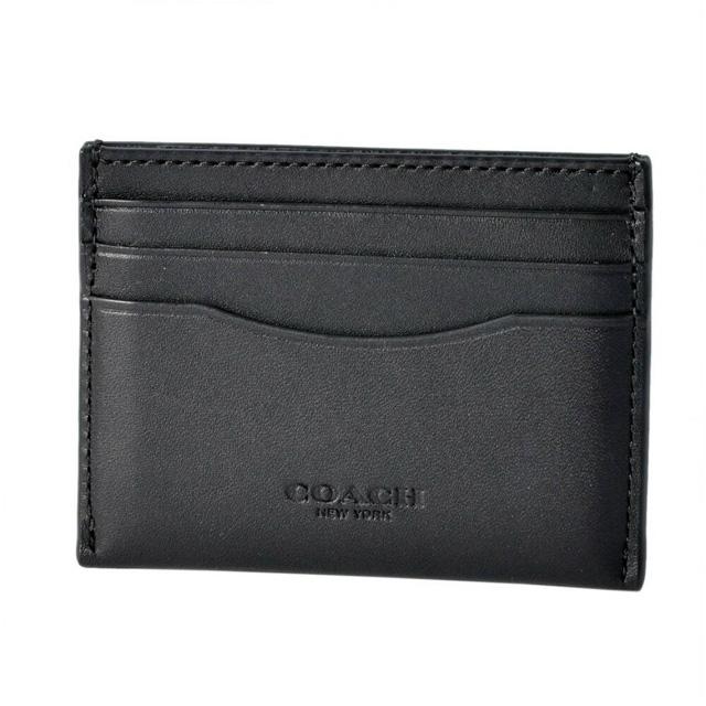 コーチ COACH カードケース 54441 FLAT CARD CASE フラットカードケース 名刺入れ DK/BLACK ブラック