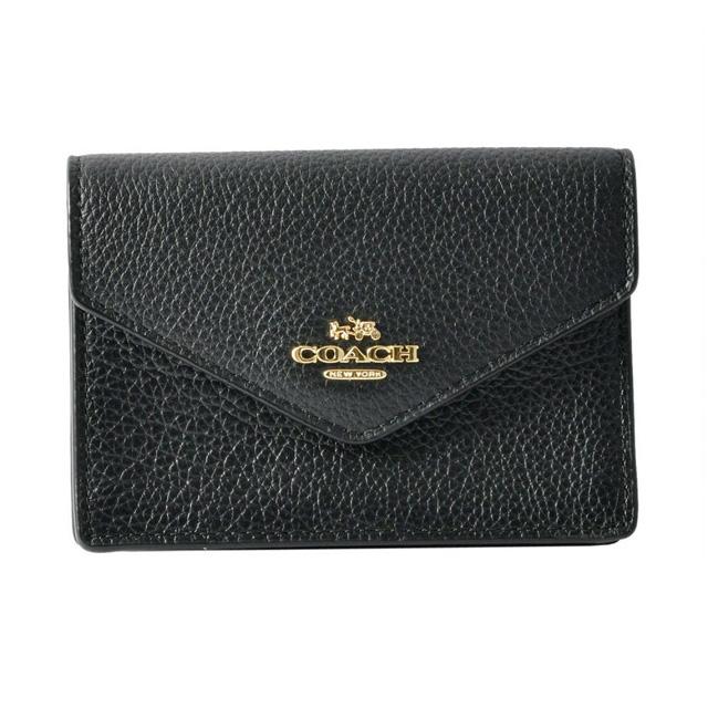 f49056d720c2 Coach COACH card case 55749 ENVELOPE CARD CASE envelope card case coin  purse key ring マルチケース LI BLACK black belonging to