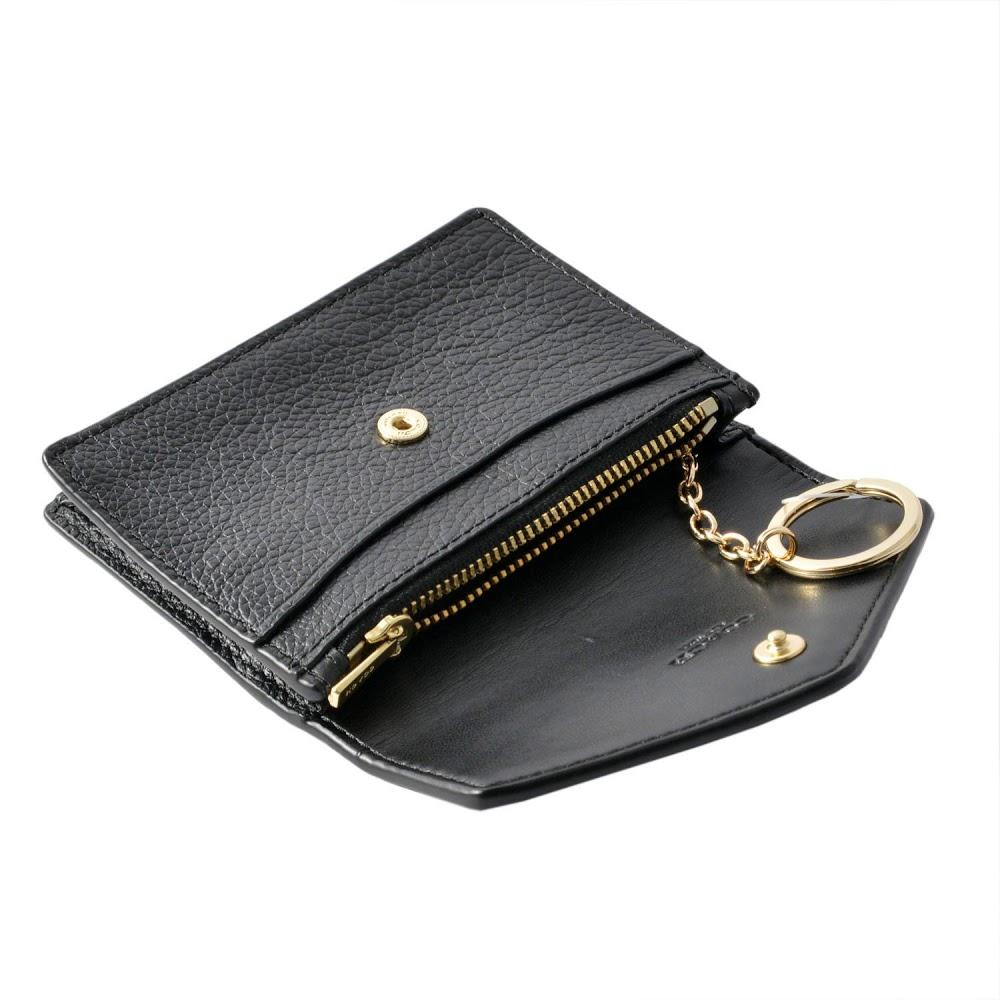 reputable site b7301 c0835 Coach COACH card case 55749 ENVELOPE CARD CASE envelope card case coin  purse key ring マルチケース LI/BLACK black belonging to