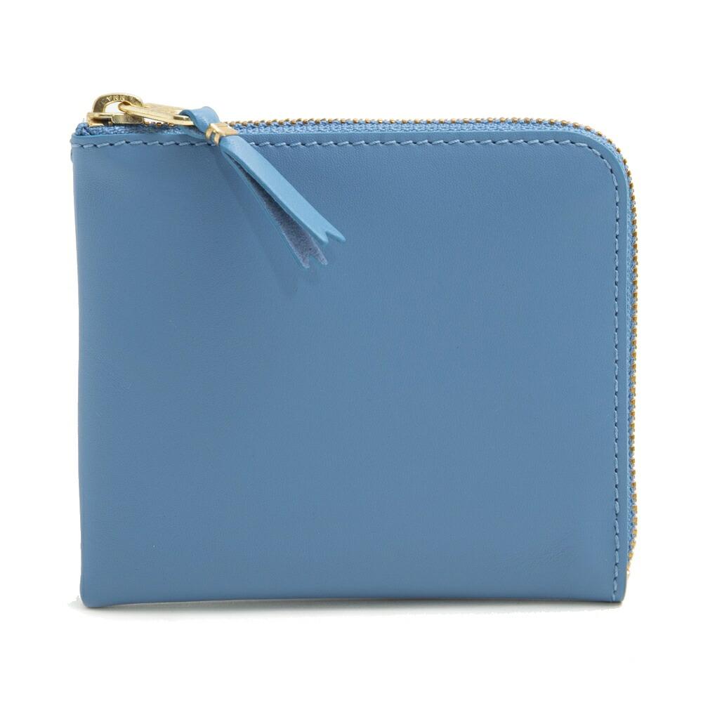 コムデギャルソン COMME des GARCONS 小銭入れ コインケース L字ファスナー SA3100 BLUE ブルー 水色
