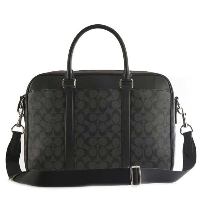 It Is Bag Charcoal Black At Coach Factory Outlet F54803 Cq Bk Pelisse Rim Signature 2way Briefcase Business Bias