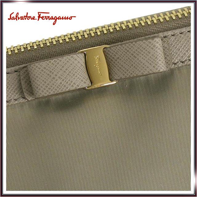 cf552a6561c1 -Porch wristlet cosmetic makeup pouch FERRAGAMO Ferragamo Womens Salvatore  Ferragamo Salvatore Ferragamo brand 22B060 0516650 P L.GY