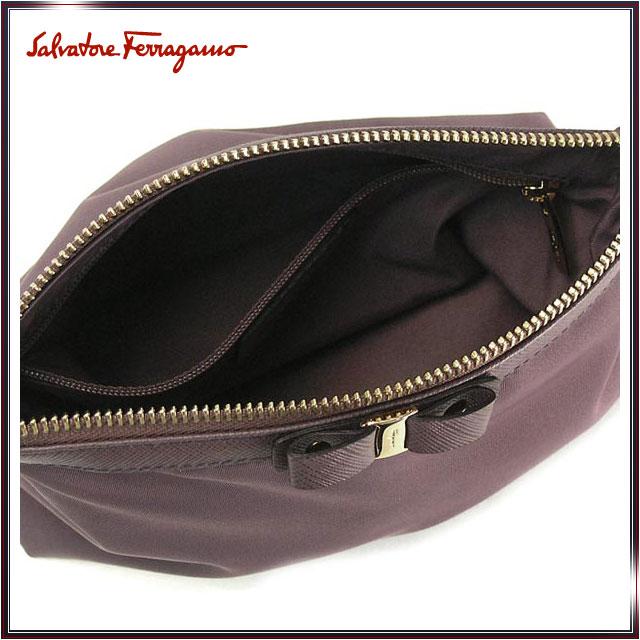 ed36bbb84ffa And bag wristlet cosmetic makeup pouch FERRAGAMO Ferragamo women s  Salvatore Ferragamo Salvatore Ferragamo brand 22B060 0516651 P L.PUR