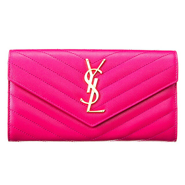 2d9cbfb7d9e20 Salada Bowl Bi Fold Wallet Monogram Lau Flap. 2016 Ysl Small Monogram  Envelope Wallet In Pink Grain De Poudre